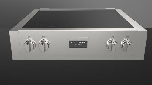 "Model: F6IRT304S1 | Fulgor Milano 30"" PRO INDUCTION RANGE TOP"