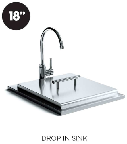 """XO Appliances 18 """" Drop-in Sink and Faucet"""