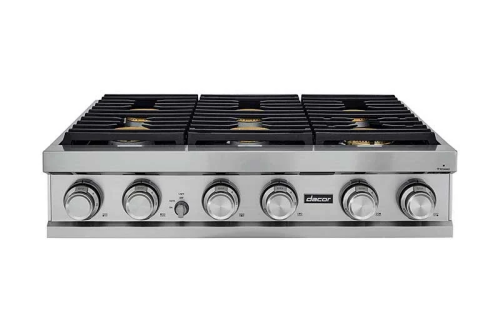 "Dacor Contemporary 36"" Range Top - LP Gas at High Altitude"