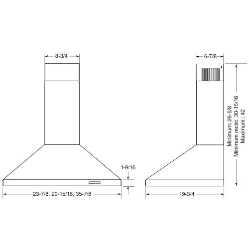"Model: EW4830BLS | Broan 30"" Wall Mounted Chimney Hood"