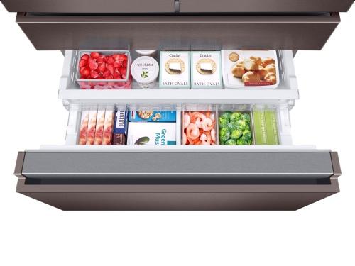 Model: RF23M8070DT   Samsung 23 cu. ft. Counter Depth 4-Door French Door Refrigerator
