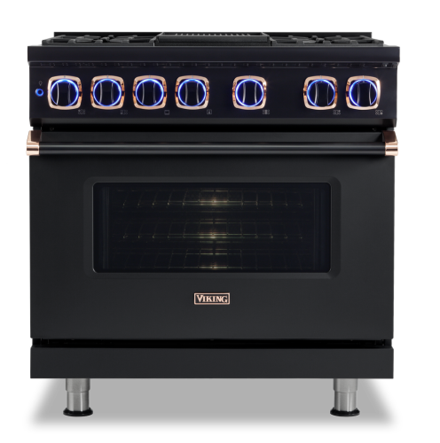 "Model: VDR73626BBORG | Viking 36.""W. Dual Fuel Range; 6 burners"