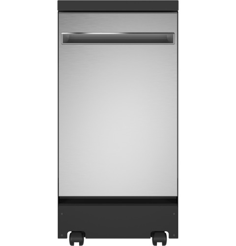 """GE GE® 18"""" Stainless Steel Interior Portable Dishwasher with Sanitize Cycle"""
