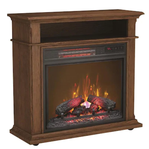 Duraflame 31.5-in Wide  Oak Infrared Quartz Electric Fireplace