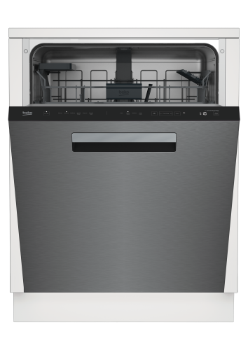 Beko Tall Tub Stainless Dishwasher, 14 place settings, 45 dBa, Top Control with Pocket Handle
