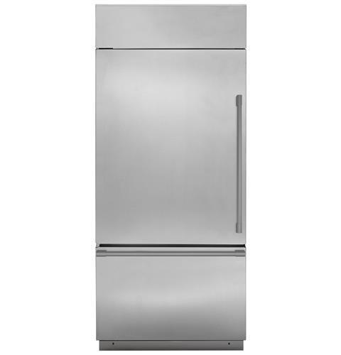 "Model: ZICS360NNLH | Monogram Monogram 36"" Built-In Bottom-Freezer Refrigerator"