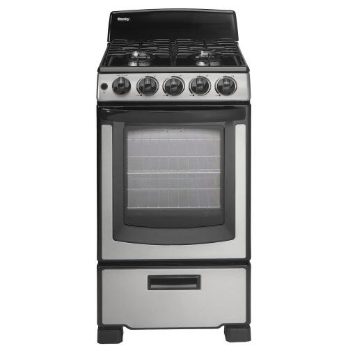 "Danby 20"" Free Standing Gas Range – Stainless Steel"