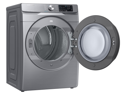 Model: DVE45R6100P | Samsung Front Load Electric Dryer with Steam Sanitize+