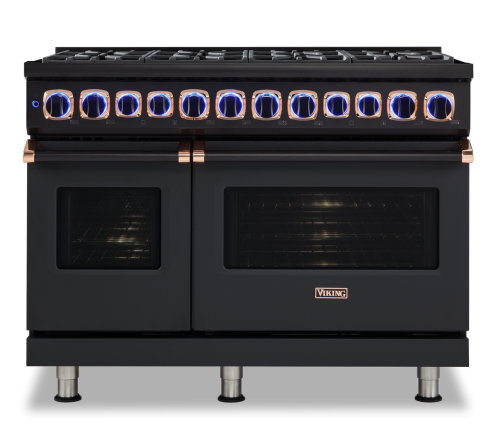 "Viking 48.""W. Gas Range; 6 burners with griddle"