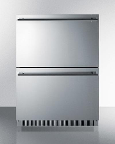 """Summit 24"""" Wide 2-Drawer All-Refrigerator"""