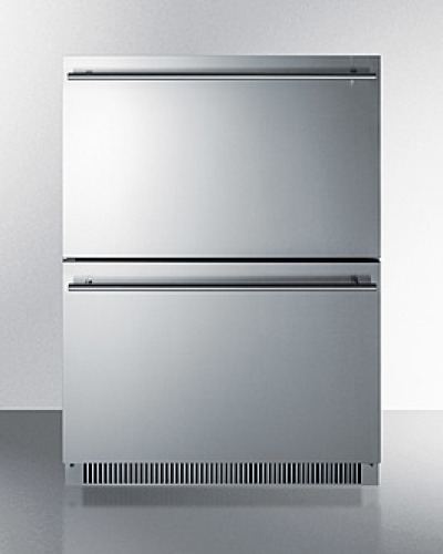 "Model: ADRD24 | Summit 24"" Wide 2-Drawer All-Refrigerator, ADA Compliant"