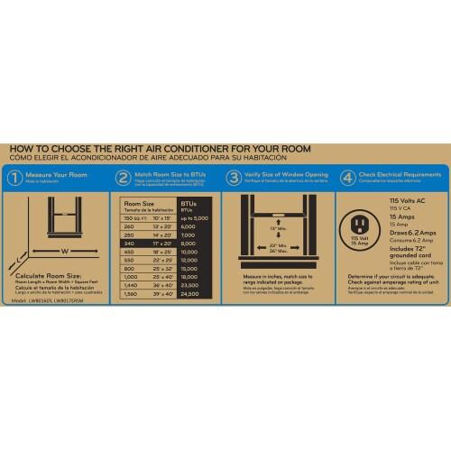 Model: LW1016ER | LG 10,000 BTU Window Air Conditioner