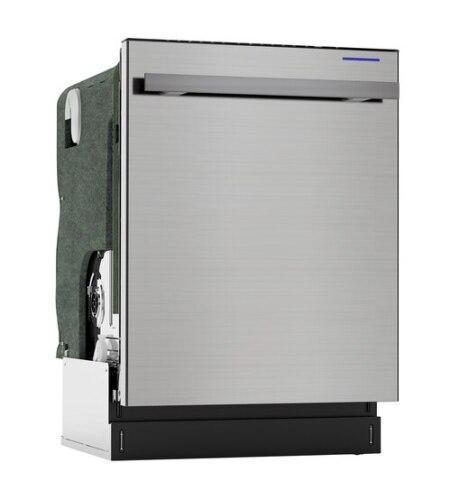 Model: SDW6757ES | Sharp Appliances Sharp 24 in. Slide-In Stainless Steel Dishwasher