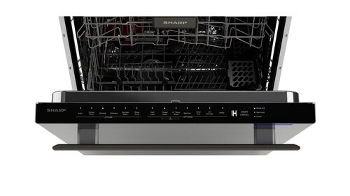 "Model: SDW6757ES | Sharp Appliances 24"" Slide-In Stainless Steel Dishwasher"