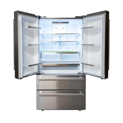 Model: SJG2351FS | Sharp Appliances Sharp French 4-Door Counter-Depth Refrigerator