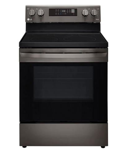 LG 6.3 cu. ft. Electric Convection Smart Range with AirFry