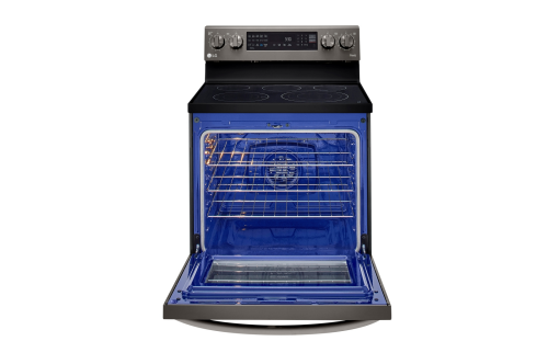 Model: LREL6325D | LG 6.3 cu ft. Smart Wi-Fi Enabled True Convection InstaView® Electric Range with Air Fry