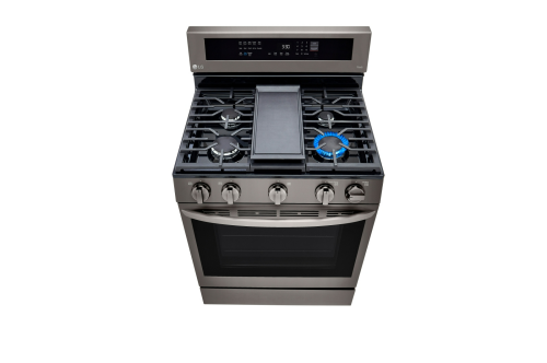Model: LRGL5825D   LG 5.8 cu. ft. Gas Convection Smart Range with Instaview™ and AirFry