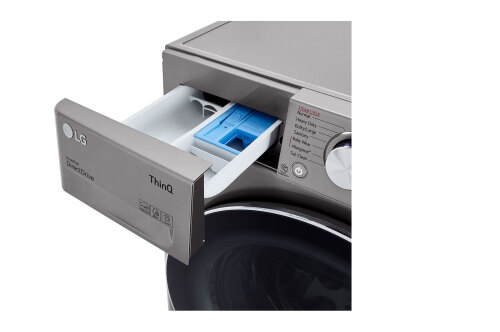 Model: WM1455HVA | LG 2.4 cu.ft. Smart wi-fi Enabled Compact Front Load Washer with Built-In Intelligence
