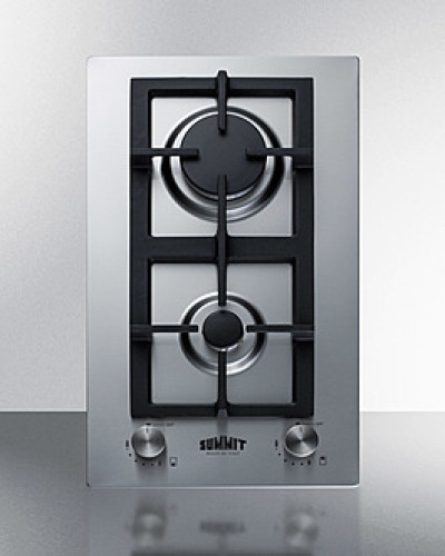 "Summit 12"" Wide 2-Burner Gas Cooktop"