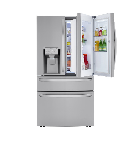 Model: LRMDC2306S | LG 23 cu. ft. Smart Wi-Fi Enabled Counter-Depth Refrigerator with Craft Ice™ Maker