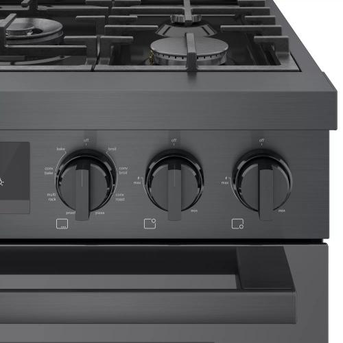 "Model: HDS8045U | Bosch 800 Series 30"" Dual Fuel Freestanding Range"