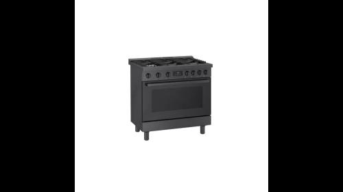 "Model: HDS8645U | Bosch 800 Series 36"" Dual Fuel Freestanding Range"