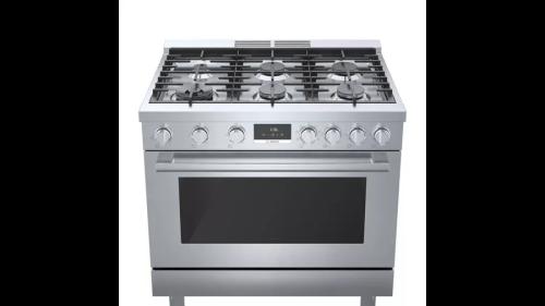"Model: HDS8655U | Bosch 800 Series 36"" Wide  Dual Fuel Freestanding Range"