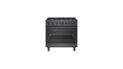 Bosch 800 Series Gas Freestanding Range 36'' Black Stainless Steel