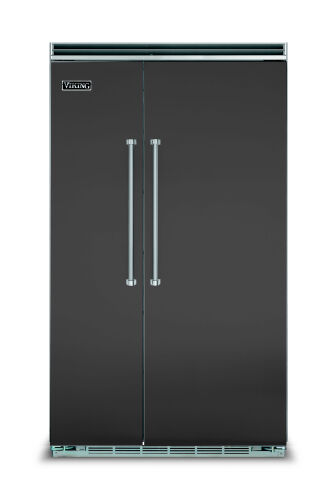 "Viking 48""W. BI Side-by-Side Refrigerator/Freezer-Cast Black"