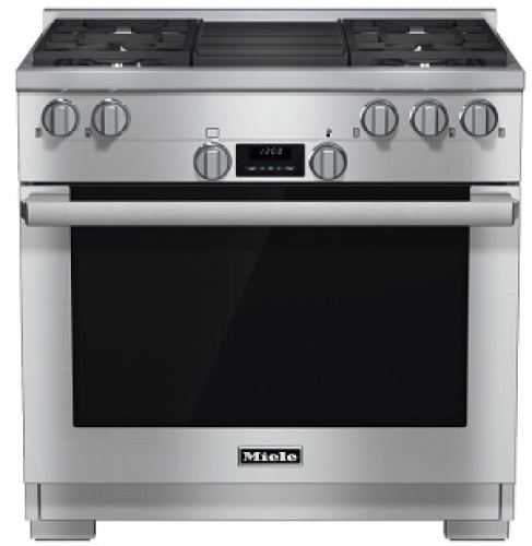 "Miele HR 1135 1 G 36"" Gas Range with Built-in Barbecue Grill - Natural Gas"