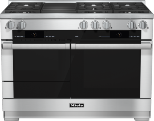 Miele 48 inch Dual Fuel Range with Built-In Barbecue - Natural Gas            HR 1955-2 G