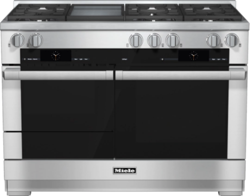 Miele 48 inch Dual Fuel Range with Built-In Griddle - Natural Gas            HR 1956-2 G