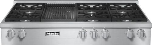 "Miele 48"" RangeTop with Built-In Barbecue -  Natural Gas       KMR 1355-1 G"