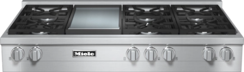 "Miele 48"" RangeTop with Built-In Griddle -  Natural Gas       KMR 1356-1 G"