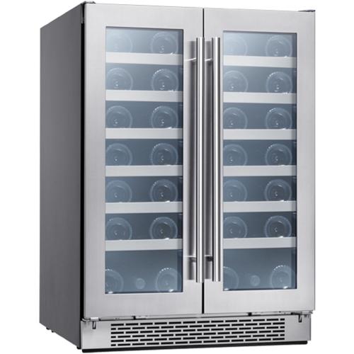 """Zephyr 24"""" French Door Dual Zone Wine Cooler"""