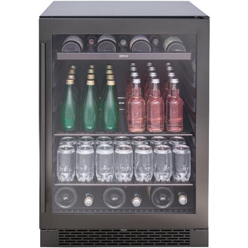 "Zephyr 24"" Black Stainless Single Zone Beverage Cooler"