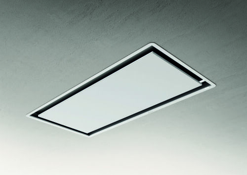 Elica CEILING HOOD - Metal White with White frame