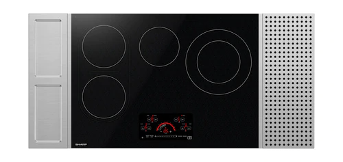 "Sharp Appliances 30"" Drop-In Radiant Cooktop with Side Accessories"