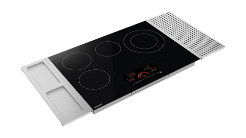 Model: SCR3042FB | Sharp Appliances 30 in. Drop-In Radiant Cooktop with Side Accessories