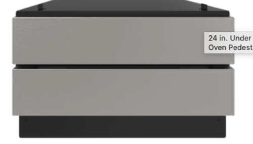 Model: SKCD24U0GS | Sharp Appliances 24 in. Under the Counter Convection Microwave Drawer Oven Pedestal (Panel Ready)