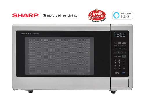 Sharp Appliances 1.4 cu. ft. 1000W  Smart Carousel Countertop Microwave