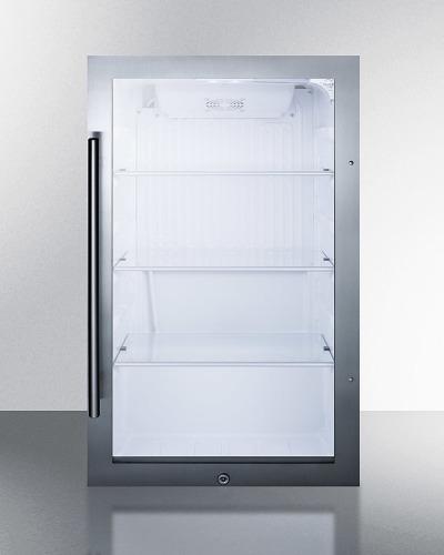 Summit Shallow Depth Indoor/Outdoor Beverage Cooler, ADA Compliant