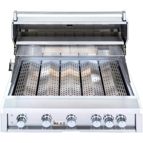"Model: HTGR40-5-NG | Heat Grills HEAT 40"" 5-Burner Gas Grill w/ Infrared Burner - Natural Gas"