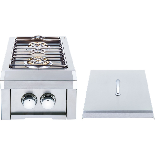 Heat Grills Double Side Burner w/ Lights - LP Gas
