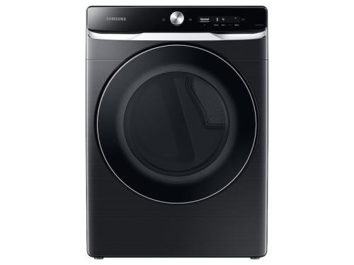 Samsung 7.5 cu. ft. Smart Dial Electric Dryer with Super Speed Dry in Brushed Black