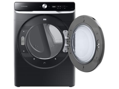 Model: DVE50A8800V | Samsung 7.5 cu. ft. Smart Dial Electric Dryer with Super Speed Dry in Brushed Black