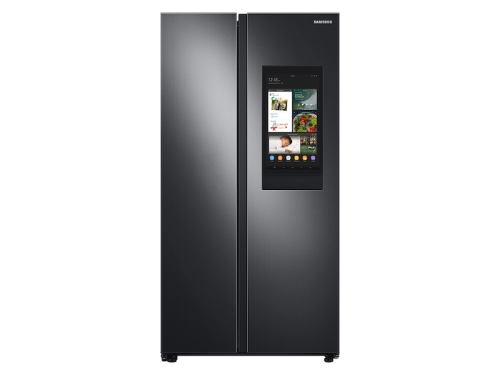 Samsung 27.3 cu. ft. Smart Side-by-Side Refrigerator with Family Hub  in Black Stainless Steel