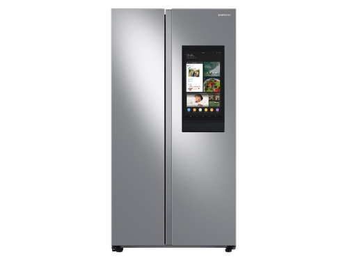 Samsung 27.3 cu. ft. Smart Side-by-Side Refrigerator with Family Hub in Stainless Steel