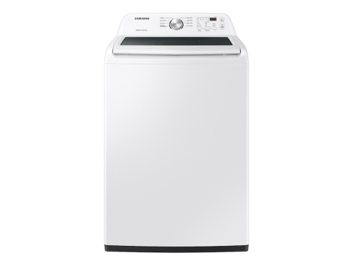 Samsung 4.4 cu. ft. Top Load Washer with ActiveWave  Agitator and Soft-Close Lid in White